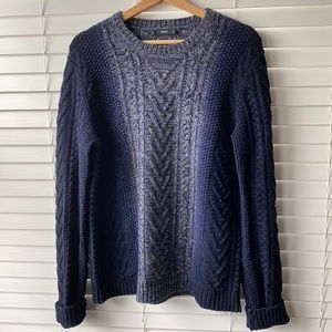 Vince Wool Cashmere Knit Chunky Blue Sweater S
